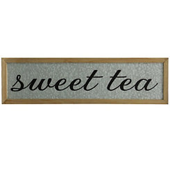Galvanized Sweet Tea Wall Plaque