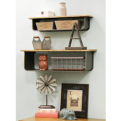 School House Shelves, Set of 2