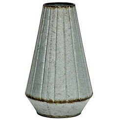 Embossed Galvanized Metal Vase