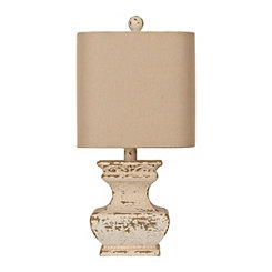 Distressed Cream Ava Table Lamp