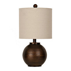 Hammered Bronze Ava Table Lamp