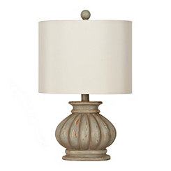 Distressed Light Green Ava Table Lamp