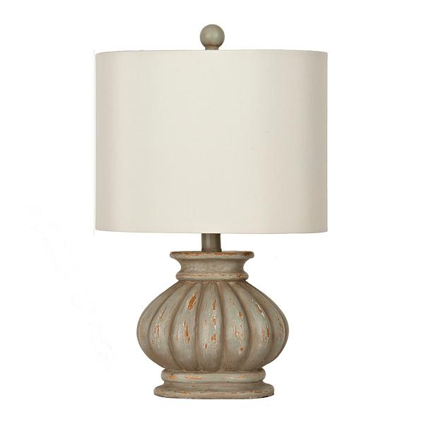 Distressed Light Green Ava Table Lamp