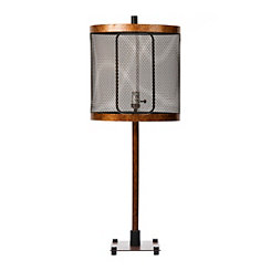 Oil-Rubbed Bronze Metal Edison Bulb Table Lamp