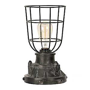 Antique Black Industrial Edison Bulb Uplight