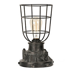 Antique Black Industrial Edison Bulb Uplight