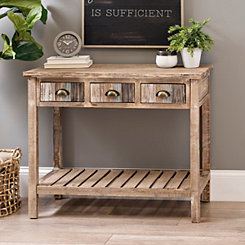 Coastal Distressed Wood Console Table