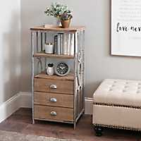 Riley Wood and Metal Console Shelf