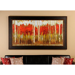 The Edge Red Treeline Framed Art Print