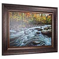 Fall Mountain Stream Framed Art Print