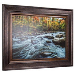 Fall Mountain Stream Framed Art Print