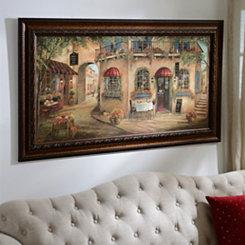 Geno's Pizza Street Scene Framed Art Print