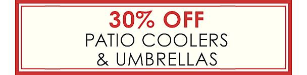 25% Off Patio Coolers & Umbrellas - Shop Now