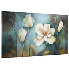 Softer Side Blue Floral Canvas Art Print