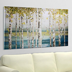 Abstract Birch Lake Canvas Art Print