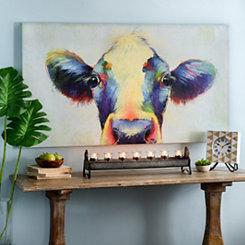 Peek A Moo Cow Canvas Art Print