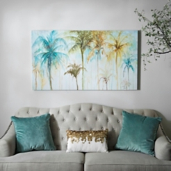 Watercolor Palm Trees Canvas Art Print