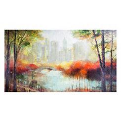 Fall Central Park Canvas Art Print