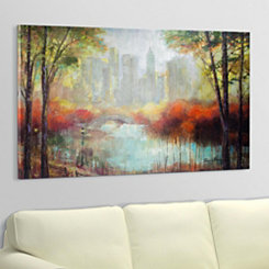 Fall Central Park Canvas Art Print