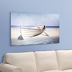 Boat on Shore Canvas Art Print