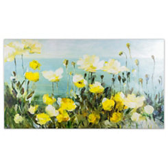 Field of Yellow Flowers Canvas Art Print