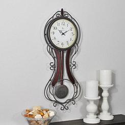 Bronze Fleur Pendulum Wall Clock