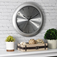 Plasma Silver Steel Wall Clock