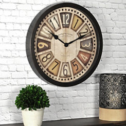 License Plates Wall Clock