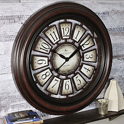 Majestic Hollow Espresso Wall Clock