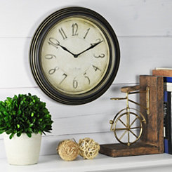 Aged Rich Black Wall Clock