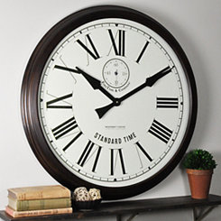Heritage Brown Wooden Wall Clock