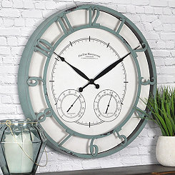 Laguna Teal Outdoor Wall Clock
