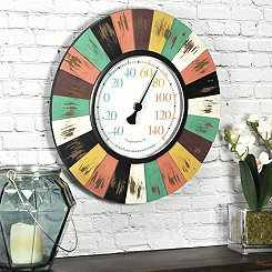 Coral Burst Outdoor Wall Thermometer