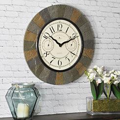 Garden Slate Outdoor Wall Clock