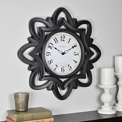 Bronze Rosette Wall Clock