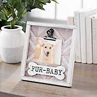 Fur Baby Galvanized Clip Picture Frame, 4x6