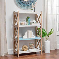Coastal Wooden 4-Tier Shelf