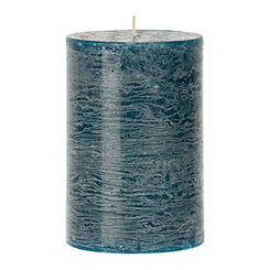 Turquoise Unscented Pillar Candle, 6 in.