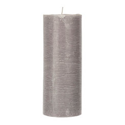 Gray Unscented Pillar Candle, 10 in.