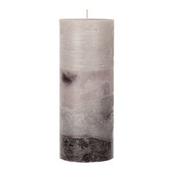 Gray Ombre Pillar Candle, 10 in.