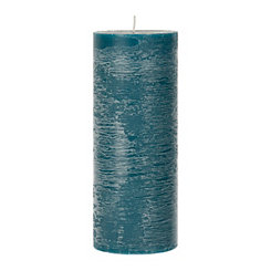 Turquoise Unscented Pillar Candle, 10 in.
