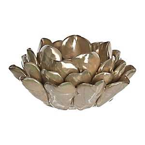 Taupe Lotus Flower Candle Holder