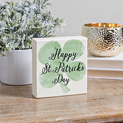 Happy St. Patrick's Day Clover Word Block
