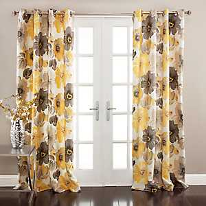 Yellow Leah Curtain Panel Set, 108 in.