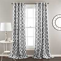 Edward Gray Curtain Panel Set, 96 in.