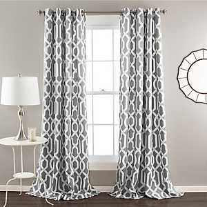 Edward Gray Curtain Panel Set, 108 in.