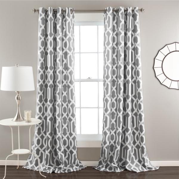 edward gray curtain panel set 108 in