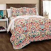 Tangerine Clara 3-pc. Full/Queen Quilt Set