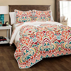 Tangerine Clara 3-pc. King Quilt Set