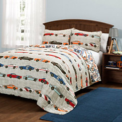 Race Car 3-pc. Full/Queen Quilt Set